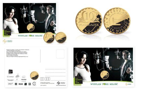 pocztowka z moneta