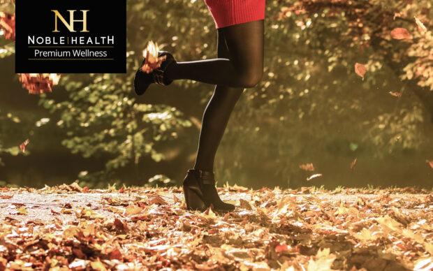 piękne nogi jesienią